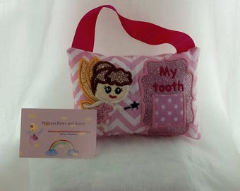 tooth fairy pillow, personalized tooth fairy hanging pillow