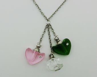 Mini Crystal Vial Cremation Urn Necklace Ash Holder Pendant Includes Funnel