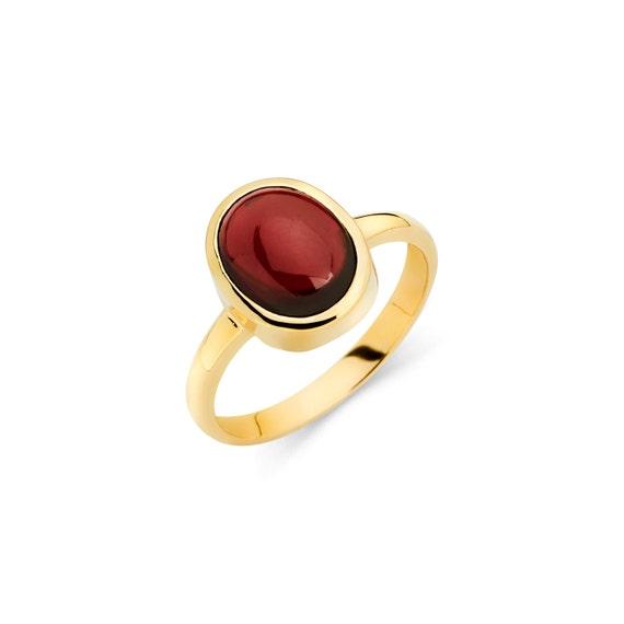 14K Gold Garnet Ring Garnet Ring Gold Ring Garnet Jewelry
