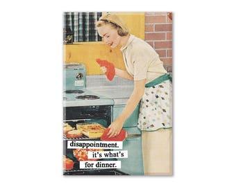 Funny Fridge Magnet, Feminist Magnet, Refrigerator Magnet, Fridge Magnet, Kitchen Decor, vintage humor, 1950s housewife, housewife magnet