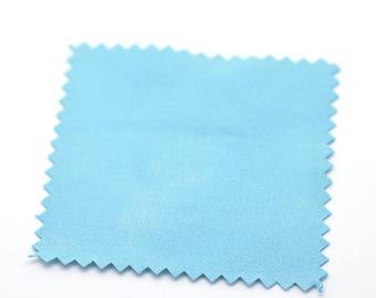 1 blue 82X82mm jewelry polishing cloth square