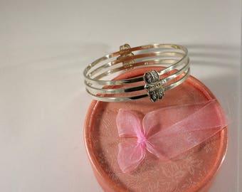 Bracelet Silver 925 Butterflies vintage SA383