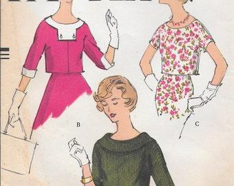 Bust 34-1958 Misses' Blouse Vogue 9531 Size 14
