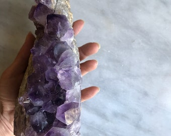 large amethyst cluster | amethyst matrix | amethyst tower | amethyst points // from brazil