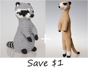 Amigurumi Patterns For Sale : Raccoon amigurumi pattern raccoon crochet pattern home decor