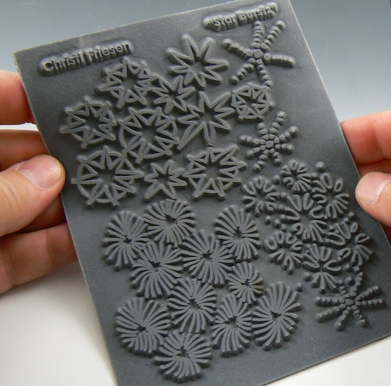 """Christi Friesen """"Star Burst"""" an Unmounted stamp great for polymer clay and other crafts"""