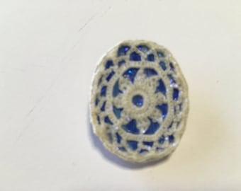 Original brooch - white