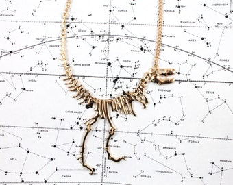 Tyrannosaurus Rex Skeleton Necklace