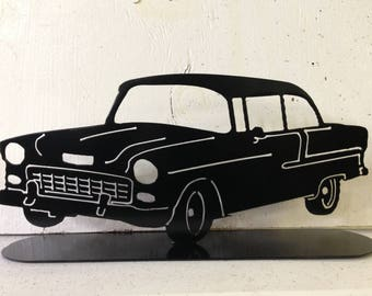 Plasma Cut, Steel, Metal Art, 1955 Chevrolet, Chevy, Welded, Powder