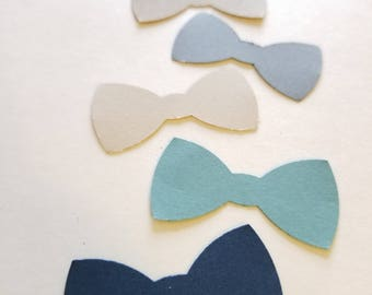 Bowtie Table Confetti {30 pcs} Baby Shower Decorations, Little Man Party, Baby Shower Theme, Birthday Decor, 58 CARDSTOCK COLORS
