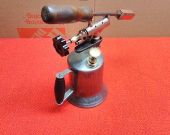 Antique Blow Torch Dunlap Vintage Welders Soldering Tool Gasoline Torch