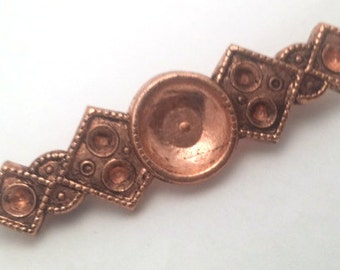Vintage Art Nouveau Deco Brass large Bar  Pin Brooch Stamping Finding
