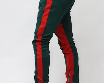 ICONIC Green/Red Tracksuit