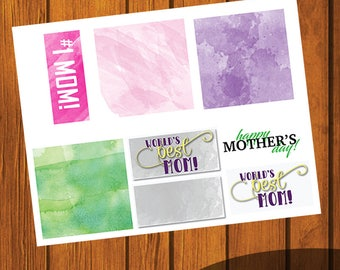 Mother's Day Card Kit/ Build Your Own Card / Make your own gift tag / Instant Download / Mother's Day / Digital File / DIY