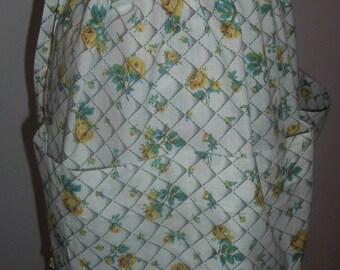 Vintage Drawstring Apron - Small, Medium