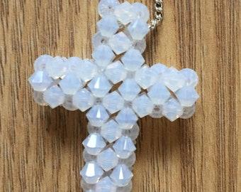 Swarovski cross sterling silver chain