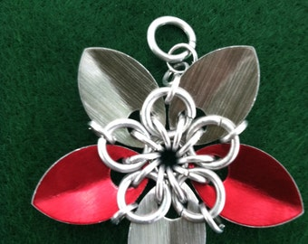 scalemaille flower pendent