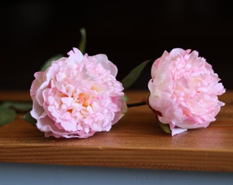 FAUX Pale Pink Peony