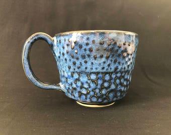 Deep Blue Textured Coffee Mug