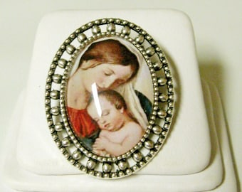 Madonna and child brooch/pin - BR02-071