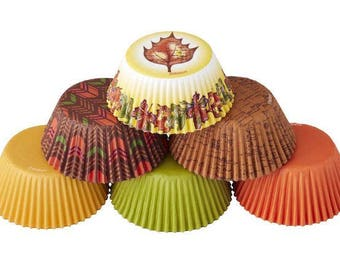 Autumn Harvest Wilton Standard Cupcake Liners Baking Cups Muffin Cups - Baking Supplies Cupcake Supplies - fall cupcake liners