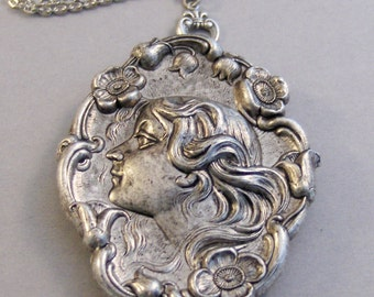 Persephone,Goddess Necklace,Goddess Locket,Silver,Greek Goddess,Silver Goddess Locket, Locket,Valleygirldesigns Locket,Locket Necklace,Photo