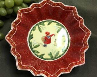0314  Villeroy & Boch Toy Fantasy Mettlach red bowl