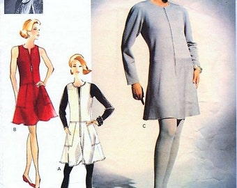 STUNNING  ADRI Vintage VogueAttitudes 2985 Pattern Classy Evening  or Day Culotte Dress or Jumper UNCUT Factory Folded Size 8-10-12