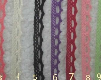 Wholesale LOT :  55 Yards  ivory Cotton Lace trim  cream .1cm (3/8inch)