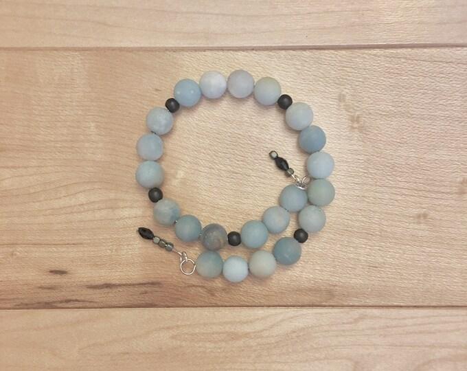 Mala-May-Monday - Customizable Amazonite Gemstone Prayer/Mala Bracelet