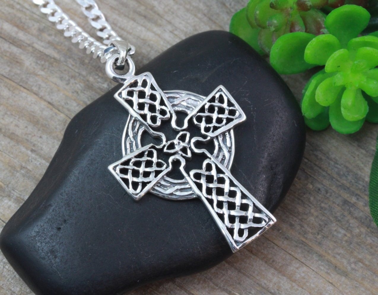 Protective celtic cross sterling silver men cross cross mens zoom mozeypictures Gallery