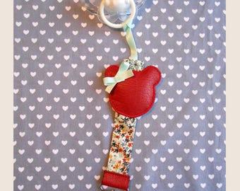 hanging red aqua pacifier
