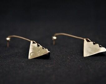 Silver Earrings, Razor Earrings