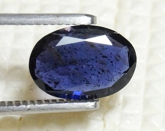 Blue Iolite Faceted Stone 11.8x8.1x3.4 mm 2.25 Carat Oval Cut Iolire Faceted Gemstone