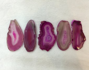 Pink Agate Slice for wire wrapping agate Pendant jewelry making supplies Agate Slice Geode Slab Pendant Stone slices gemstone supplies