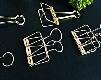 5x gift wrapping clip gold - 5,0cm