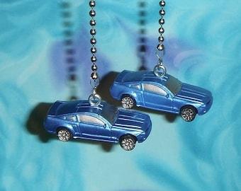 Set of Two ~ Sports Car Blue Transportation ~ Ceiling Fan Pulls