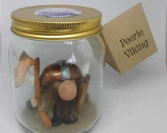 Peerie Shetland Viking Clay Figurine