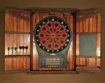 Large Electronic Dartboard Cabinet With Chalkboard   MADE TO ORDER