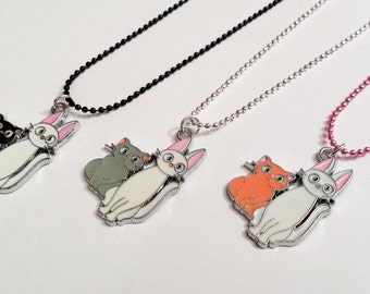 Sale! kitty cat couple Necklace