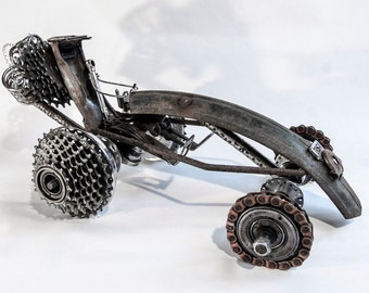 Drag Racer - DR1 - with brakeline and spoke driver figure. Made from 100% bicycle components