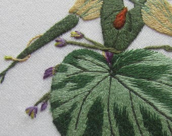 Cyclamen, hand embroidery kit or Christmas present