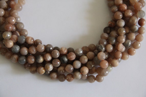 """Sunstone 10mm faceted round beads 16"""" length strand"""