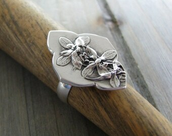 Cherish, Sterling Silver Botanical Ring, Natural Plant Reproduction, Handmade by SilverWishes