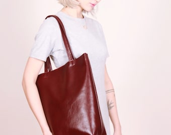 Red Leather bag,burgundy bag,Leather Tote Bag,Leather hand bag,Leather purse,leather shopper