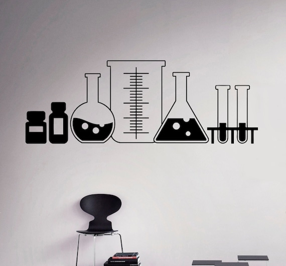 Laboratory Glass Wall Decal Vinyl Sticker Chemistry Classroom - Custom vinyl wall decals for classrooms