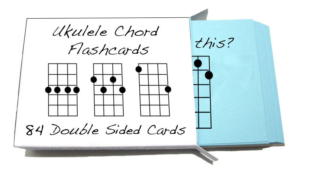 Ukulele Chord Symbol Flashcards 84 Cards For Soprano