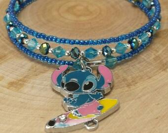 Lilo and stitch jewelry - lilo and stitch bracelet - stitch charm wrap bracelet - Christmas gift