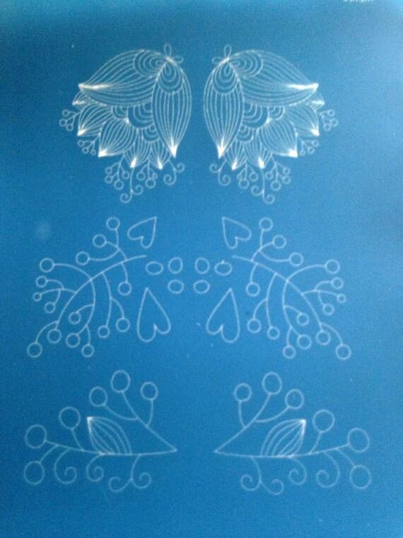 Silkscreen Whimsy nature a beautiful crisp designs perfect for silkscreening on polymer clay