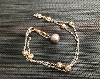 Unique Sterling Silver Brass Necklace